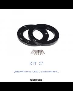 Adaptador para MPCC M48 55 mm para QHY600M PH con rueda CFW3L